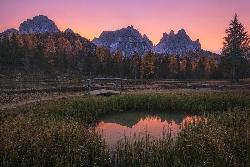 Sunrise in Lago di Antornophoto preview