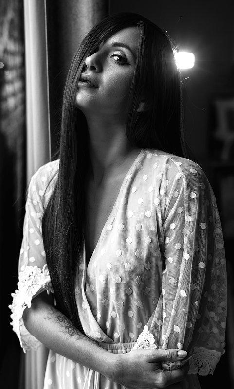 портрет, девушка, чб, красота AlinaIvoryphoto preview