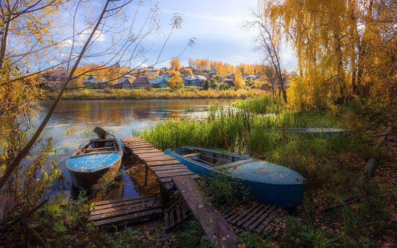 город,плёс,река,лодки,осень Осень В Плёсеphoto preview