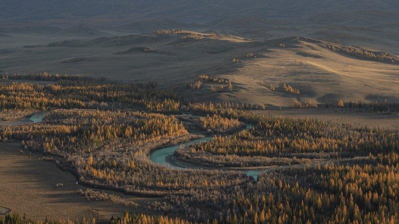 горный алтай, осень, горы, речка,курай Закатный вечер на Кураеphoto preview