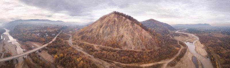 горы, карпаты, ноябрь, осень, панорама, прикарпатье, река, украина Ноябрь в Прикарпатьеphoto preview