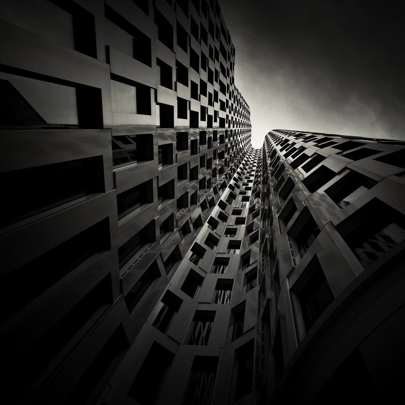 #city, #architecture, #building, #alexandrucrisan, #tower, #fineart, #architecturephotography, #windows, #monochrome, #limitededition, #artprint Walls of Steelphoto preview