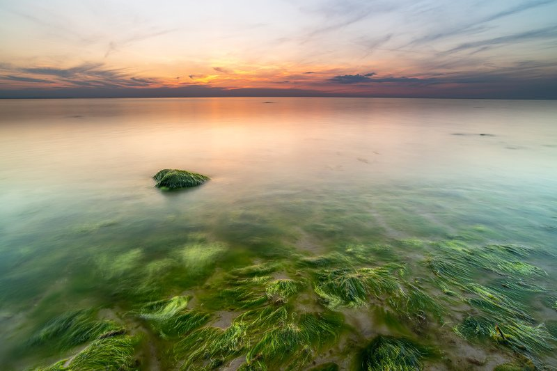 sea, sunset, landscape, nature, longexposure Sunset by the seaphoto preview