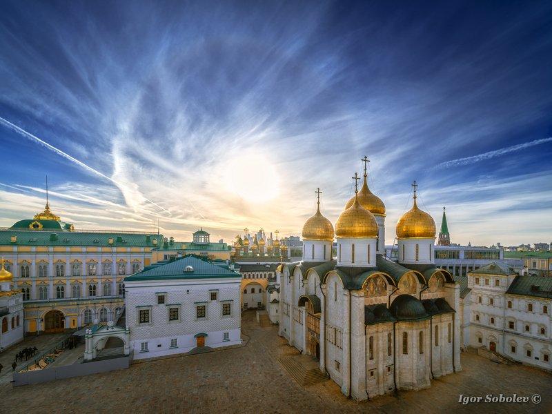 гало, москва, успенский собор, кремль, halo, moscow, assumption cathedral, kremlin Галоphoto preview
