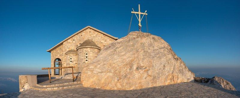 рассвет, греция, горы, море, афон, landscape, православие, религия На пикеphoto preview