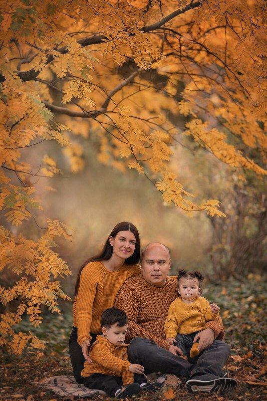 семейная фотосессия, семейный фотограф, семейный портрет, осень, осеннее фото photo preview