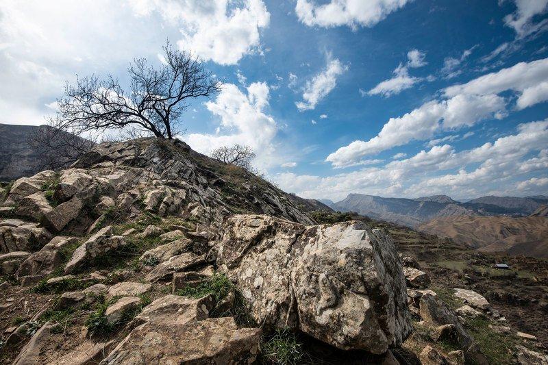 пейзаж, пейзажная фотография, landscape, Россия, Дагестан, горы, камни Окрестности аула Гамсутльphoto preview