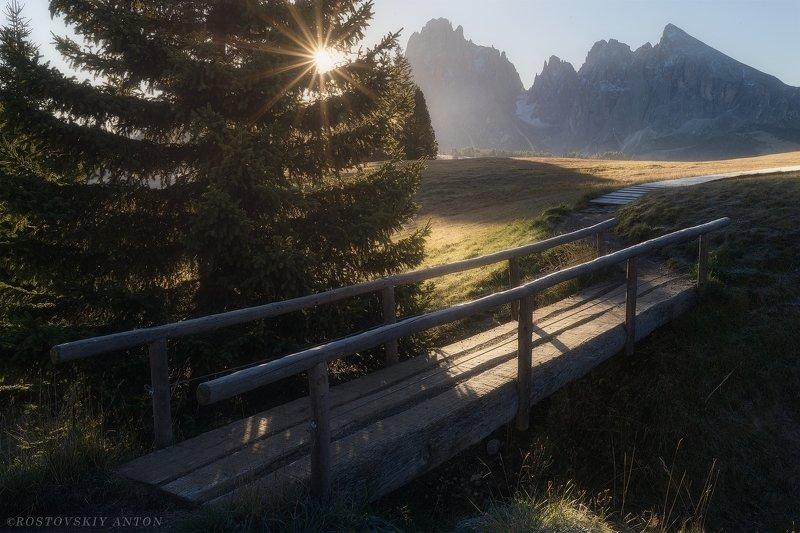 Доломиты, Италия, Альпы, Восход, Dolomites, Italy Sunlight in Dolomitesphoto preview