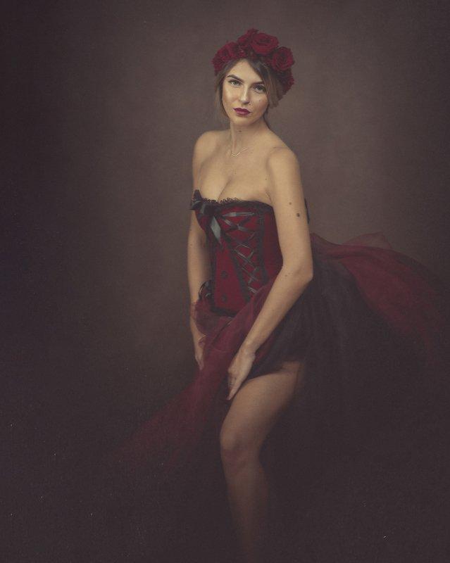 cabaret portrait woman painterly  Portrait of Melitaphoto preview