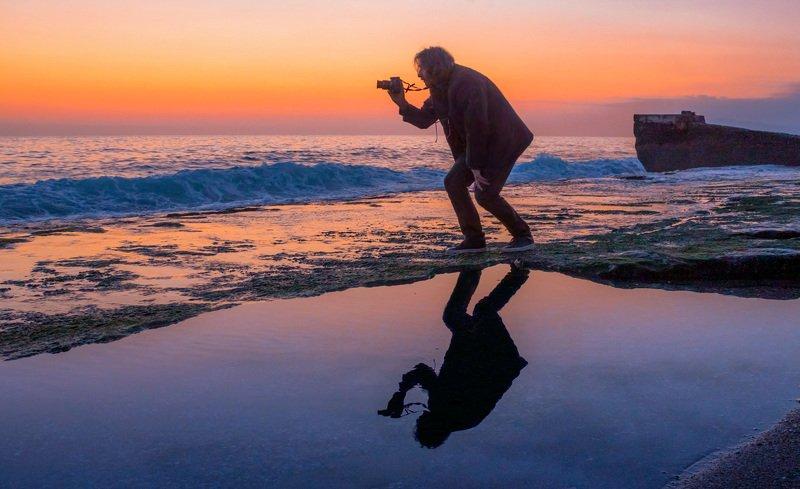 море, вечер, фотограф, закат Фотографphoto preview