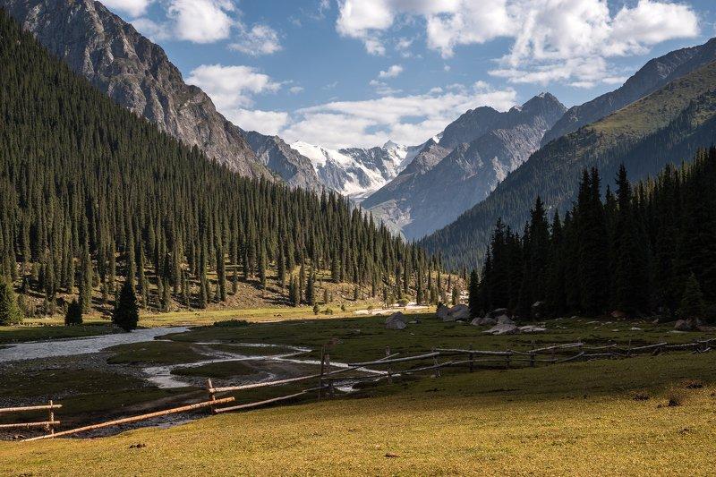 Киргизия, Чон-Кызыл-Су, Терскей, горы Вечер в долинеphoto preview
