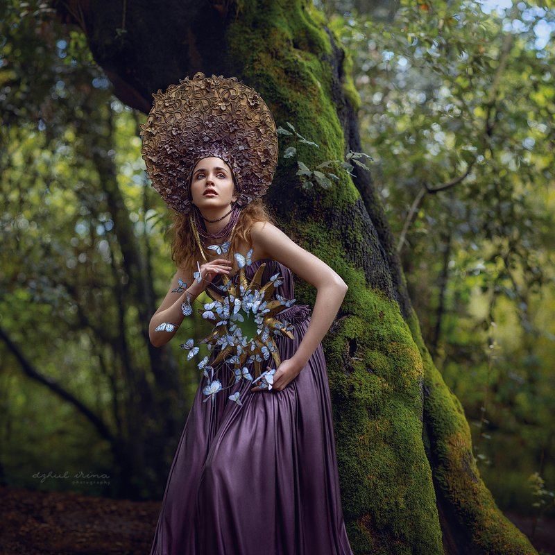 portreit, people, girl, woman, irinadzhul, dzhulirina, forest, green, nymph Forest Nymphphoto preview