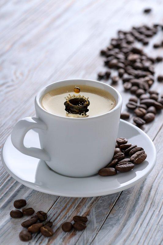 напитки, кофе, всплеск, сплэши, капли, макро Капля кофеphoto preview