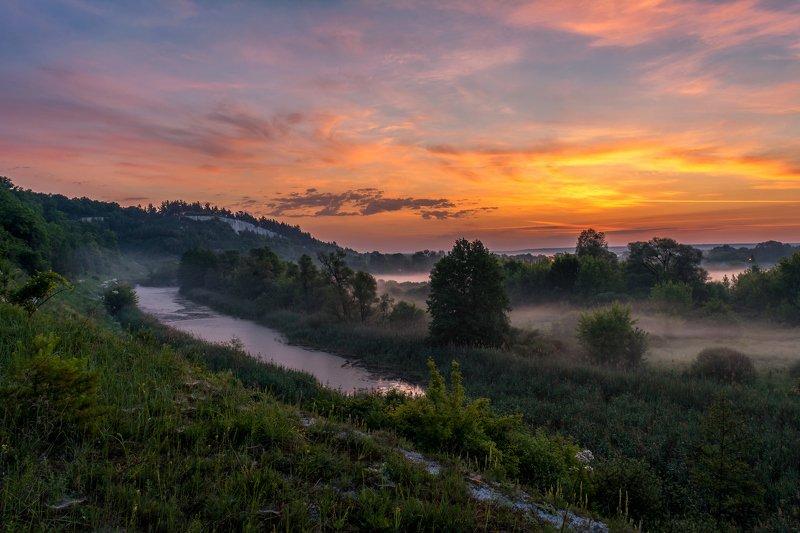 дмитриевское городище,село доброе,рассвет,река короча Летнее настроение.photo preview