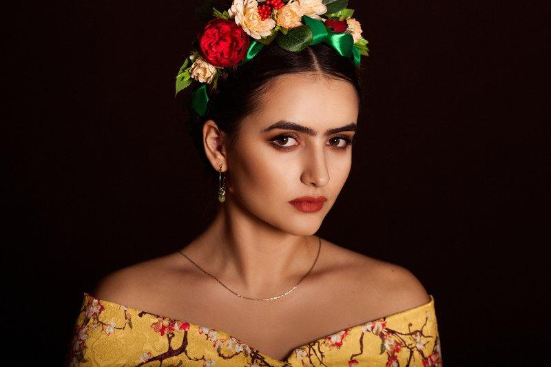 портрет, женский портрет, Фрида Кало, художница образ Фриды Калоphoto preview
