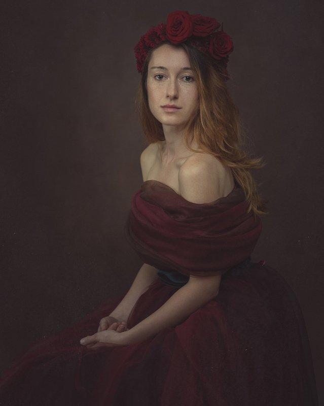 portrait woman painterly Portrait of Cristinaphoto preview