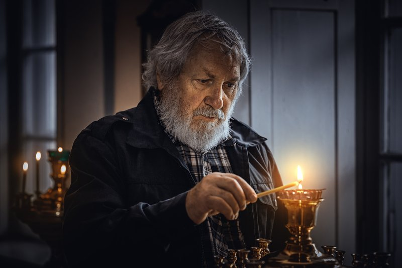 православие, христианство, портрет, мужской, храм, молитва, седой, старик, orthodoxy, christianity, portrait, male, temple, prayer, gray-haired, old man Наединеphoto preview