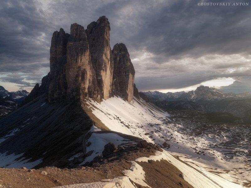 доломиты, альпы, закат, италия, dolomites, italy, tre cime di lavaredo, тре чиме ди лаваредо, фототур в доломиты, фотопутешествие, Last rays in Tre Cime di Lavaredo | фототур в Доломитыphoto preview