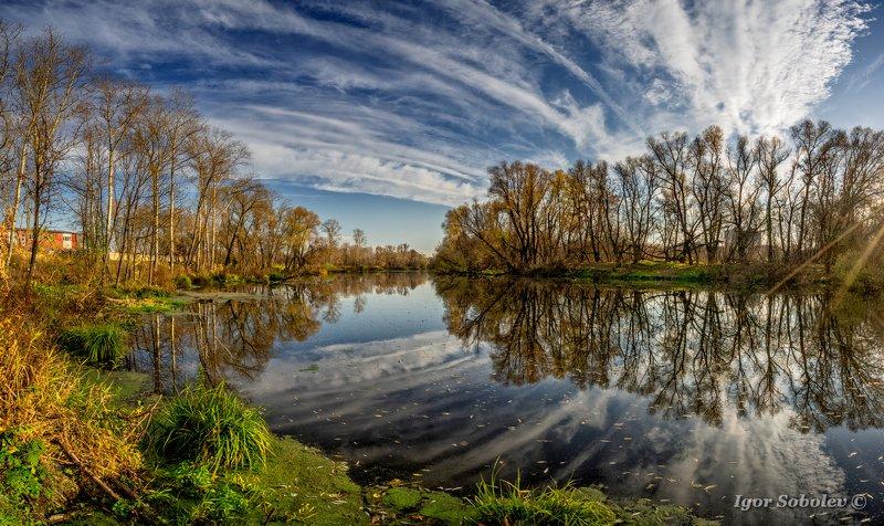 пейзаж, панорама, осень, landscape, panorama, autumn Притяжение силыphoto preview