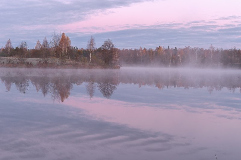 природа,пейзаж,осень,туман,красота \