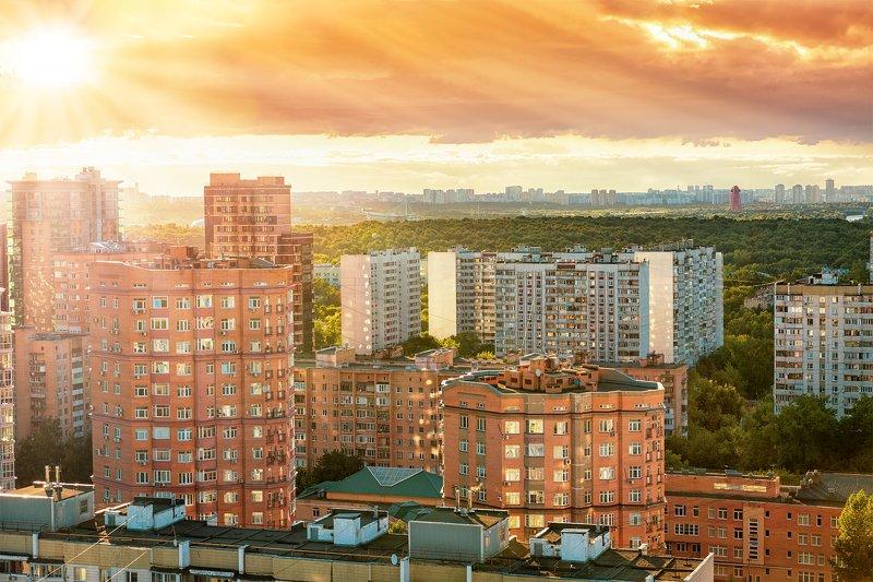 закат, солнце, пейзаж, город, горизонт, лето, яркий, мегаполис, москва, зао, живописный, мост, sunset, sun, landscape, city, horizon, summer, bright, metropolis, moscow, zao, picturesque, bridge Яркие блики закатаphoto preview