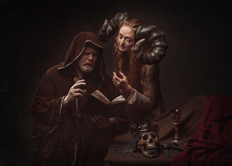 фавн фавнеса фатуя рога фэнтези сказка история книга прорицание предсказание череп Прорицание Фатуиphoto preview