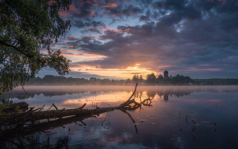 введенское, утро, туман, мельница, осень, рассвет Утро в Введенскомphoto preview