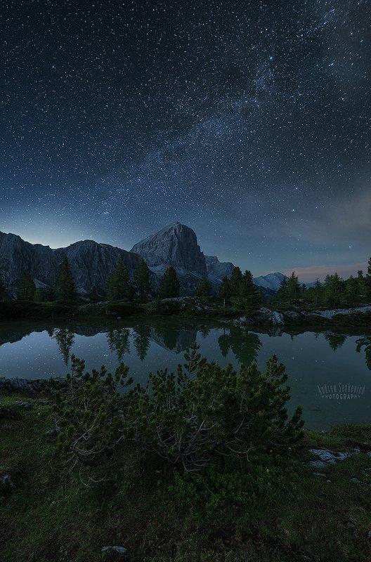 доломиты, dolomiti, dolomites Ночной пейзажик из летних Доломитphoto preview