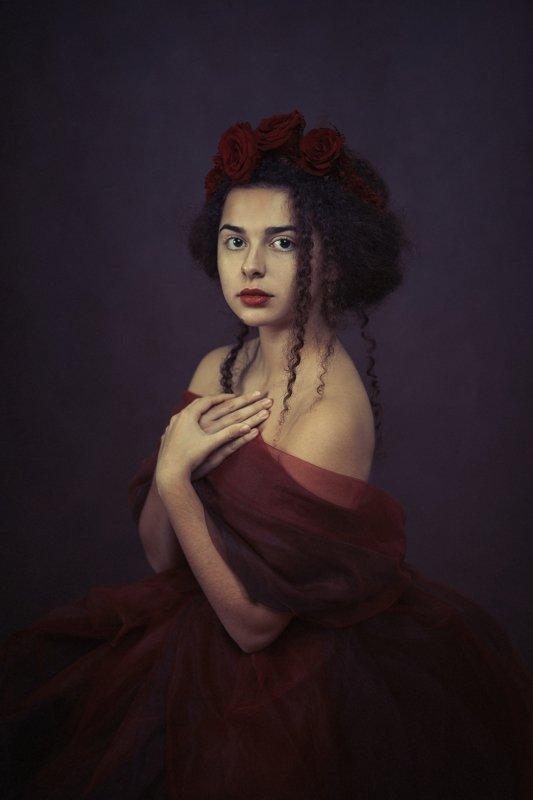 portrait painterly woman Portrait of Patriciaphoto preview