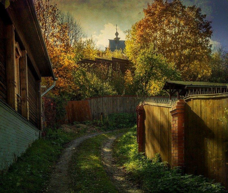плёс,город,осень,улица Осень в Плёсеphoto preview