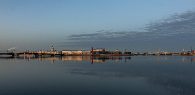 Санкт-Петербург, город, отражение, архитектура, река, вода, утро Санкт-Петербург в зеркале Невыphoto preview