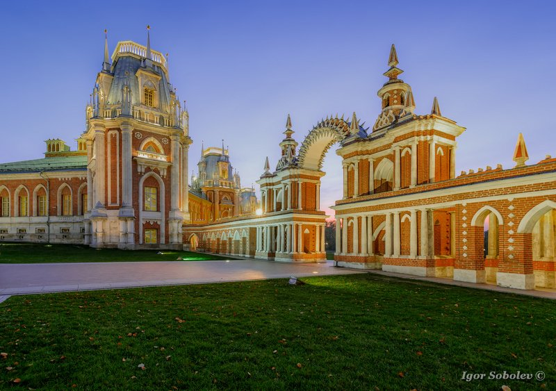 Царицыно, вечер, осень, Tsaritsyno, evening, autumn Цирицыноphoto preview