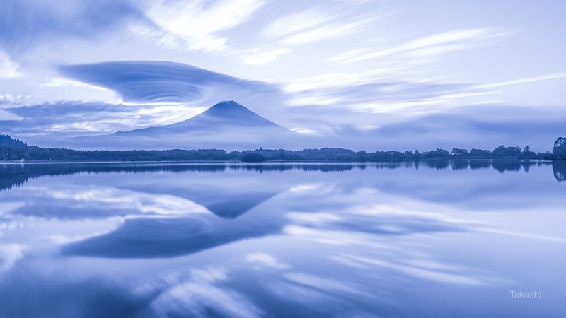 Fuji,mountain,Japan,cloud,reflection,lake,water Beyond timephoto preview