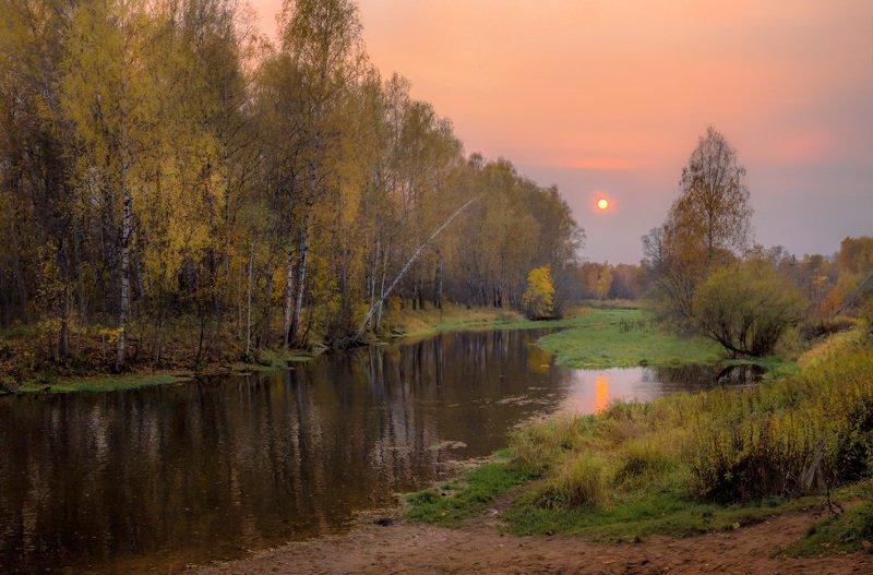 осень, вечер, закат, река, солнце, клязьма Тихий вечерphoto preview
