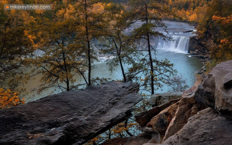 cumberland falls, kentucky, appalachian mountains, america, american, autumn, daniel boone, foliage, forest, kentucky, landscape, maple, picturesque, river, scenic, trees, united, waterfall Камберленд Фоллсphoto preview