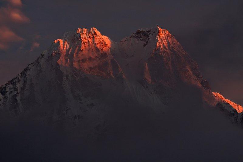 Непал горы Гималаи закат На закате...photo preview