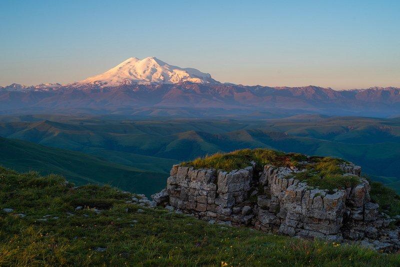 эльбрус, бермамыт, гора, рассвет, небо, плато, облака, утро ЭЛЬБРУС РАССВЕТНЫЙphoto preview