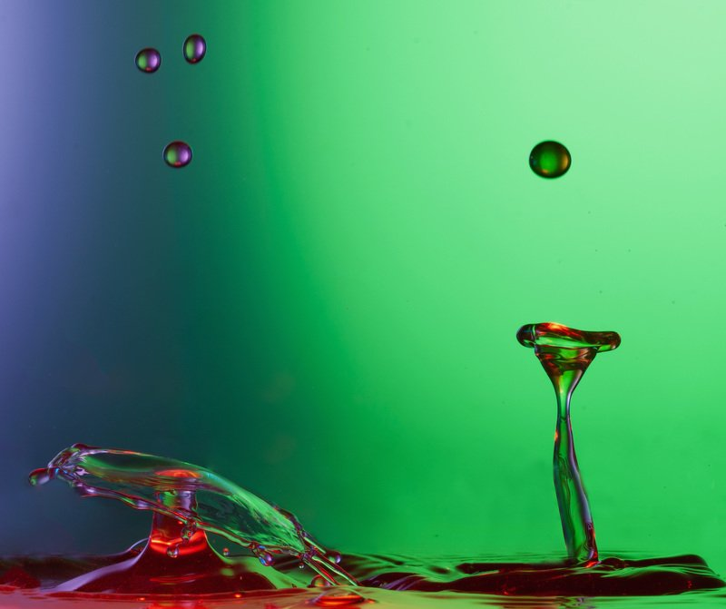 water, drop, color, macro, liquid, art Параphoto preview