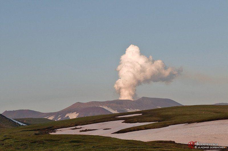 камчатка, вулкан, горелый Вулкан Горелыйphoto preview