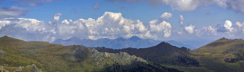 горы, облака Перевалы от Калагаша к Курагануphoto preview