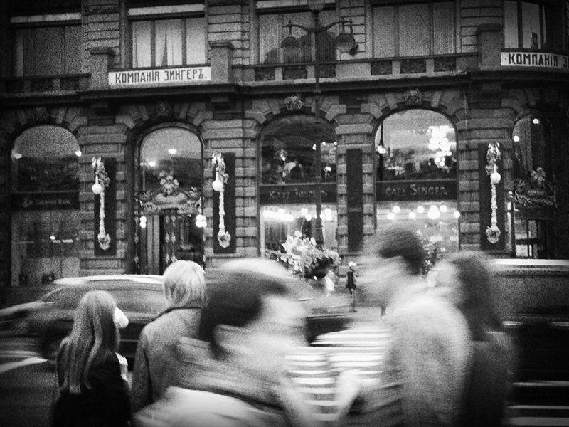 город, люди, прошлое город, которого нетphoto preview