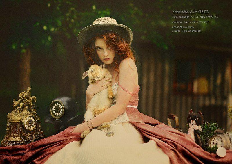сказка, природа,красота, кролик Alice in Wonderlandphoto preview