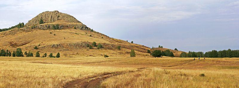 южный урал, гора, путешествия, панорама Yellow Hillphoto preview