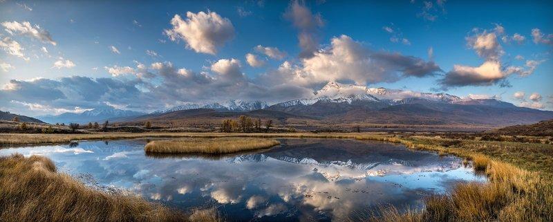 горы, алтай, горный алтай, ник васильев, красота, вода, озеро джангысколь, солнце, лучи,панорама, вечер, закат, урочище ештыкёль, северо-чуйский хребет Джангысколь.photo preview