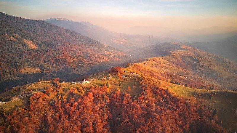 вечер, горы, закарпатье, закат, карпаты, октябрь, осень, украина Теплый октябрь. Синевирский перевалphoto preview