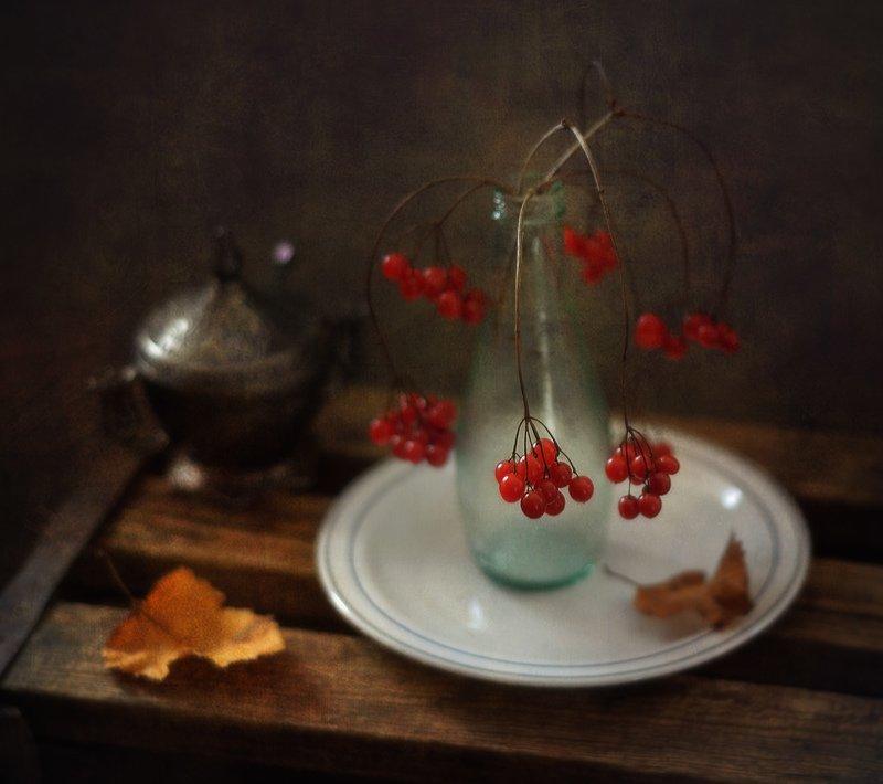 натюрморт,калина,осень ...photo preview