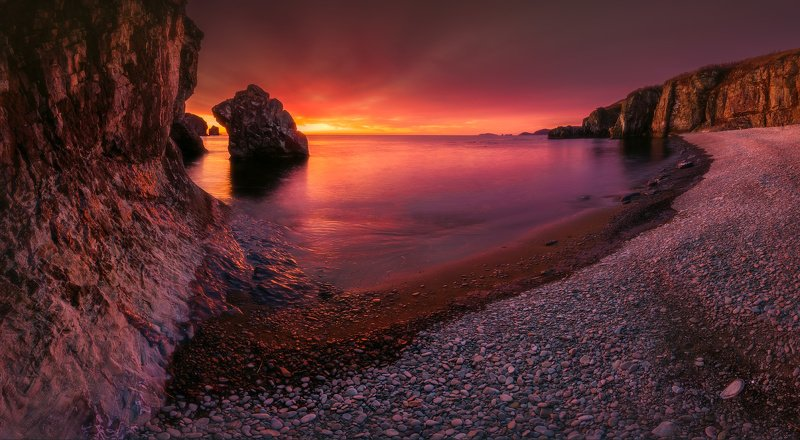 панорама, утро, море, скалы ***photo preview