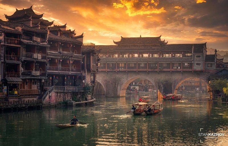 китай, china, пейзаж, landscape, sunset, закат Магия китайской Венецииphoto preview