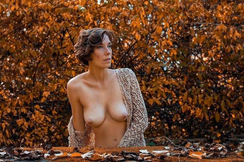 model, nude, naked, fine art, sexy, sensual, color, woman, female, body, erotica, glamour, curves, fashion nude, fashion, autumn, portrait, Erika (Colour)photo preview