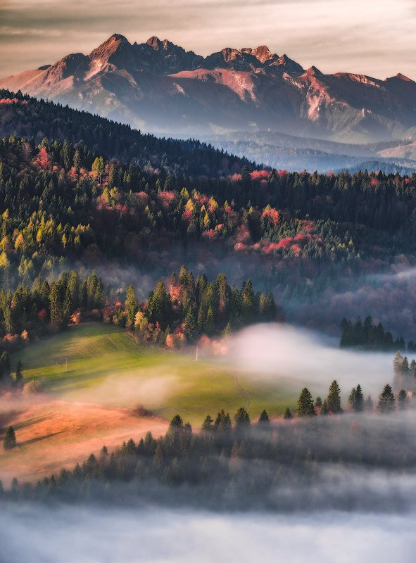 landscape, photogrpahy,tatra,mountains,national,park,sunrise,foggy,amazing,place,sun Sunrise Wysoki Wierch, National Park Pieninyphoto preview